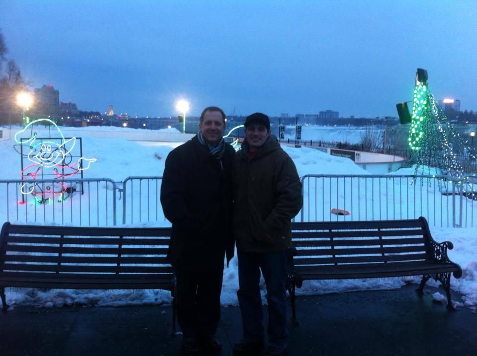 Mayor Jim Diodati and Cory Cruise