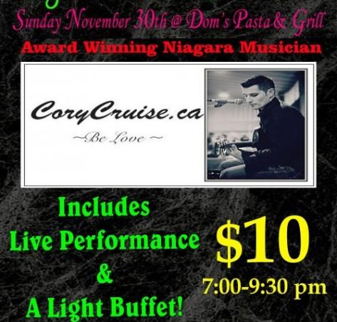 Tickets: Cory Cruise Original Showcase Nov. 30, 2014